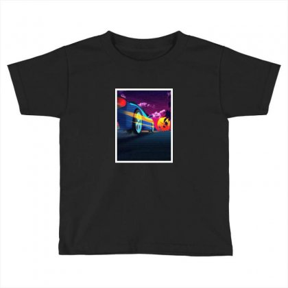 Outrun Retrowave Merch Toddler T-shirt Designed By Willo