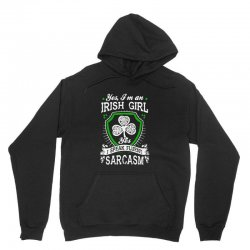 yes i'm irish girl yes i speak fluent sarcasm Unisex Hoodie | Artistshot