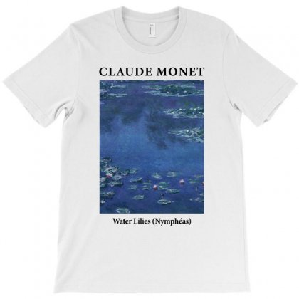 Claude Monet Water Lilies T-shirt Designed By Toweroflandrose