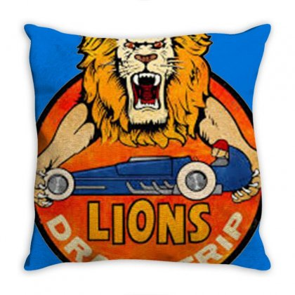 Lions Drag Throw Pillow Designed By Valen