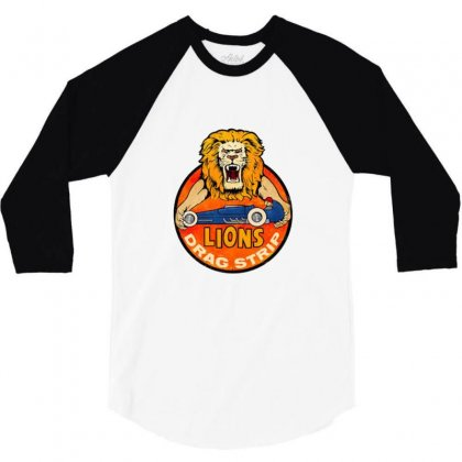 Lions Drag 3/4 Sleeve Shirt Designed By Valen