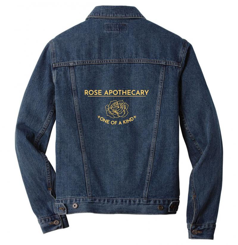 Rose Apothecary Logo Men Denim Jacket | Artistshot