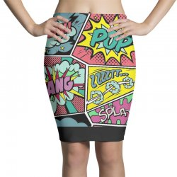 comic book vibes Pencil Skirts | Artistshot