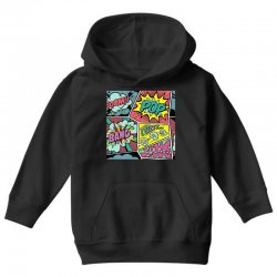 comic book vibes Youth Hoodie | Artistshot