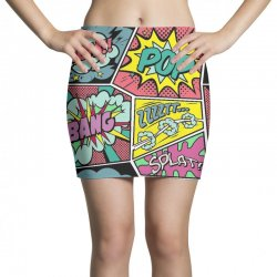 comic book vibes Mini Skirts | Artistshot