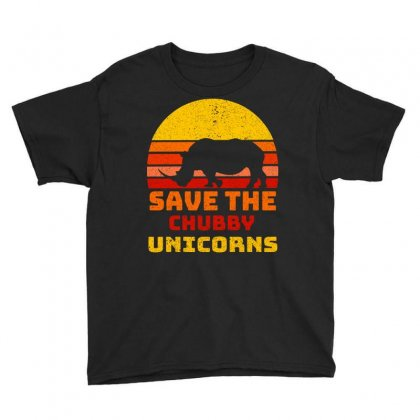 Save The Chubby Unicorns Youth Tee Designed By Omer Acar
