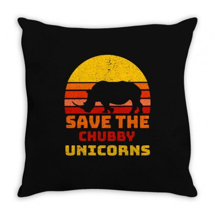 Save The Chubby Unicorns Throw Pillow Designed By Omer Acar
