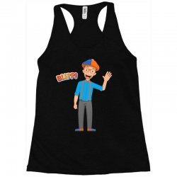 kids cartoon blippi t shirt Racerback Tank | Artistshot