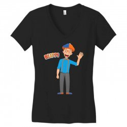 kids cartoon blippi t shirt Women's V-Neck T-Shirt | Artistshot