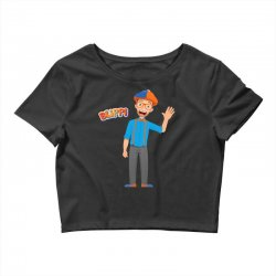 kids cartoon blippi t shirt Crop Top | Artistshot