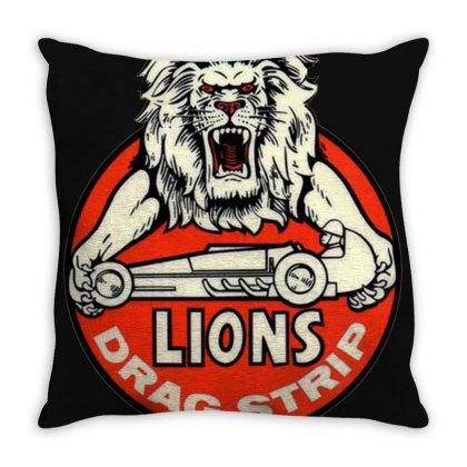 Lions Drag Throw Pillow Designed By Irwansyahronie