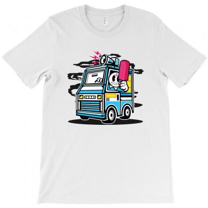 Funny Halloween Jason Ice Cream Truck T-shirt Designed By Akhtar21