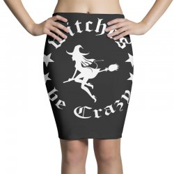funny halloween witches be crazy tshirt halloween funny party Pencil Skirts   Artistshot