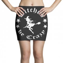 funny halloween witches be crazy tshirt halloween funny party Mini Skirts   Artistshot