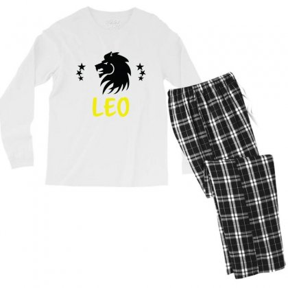 Leo Zodiac Men's Long Sleeve Pajama Set Designed By Emardesign