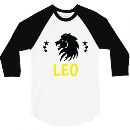 Leo Zodiac 3/4 Sleeve Shirt Designed By Emardesign