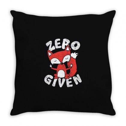 Fox Throw Pillow Designed By Disgus_thing