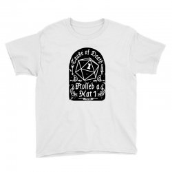 cause of death rolled a nat Youth Tee | Artistshot