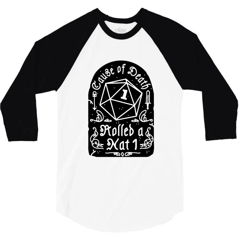 Cause Of Death Rolled A Nat 3/4 Sleeve Shirt | Artistshot