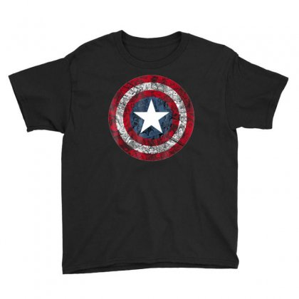 Captain America Avengers Shield Comic Graphic T Shirt Youth Tee Designed By Victorcruz