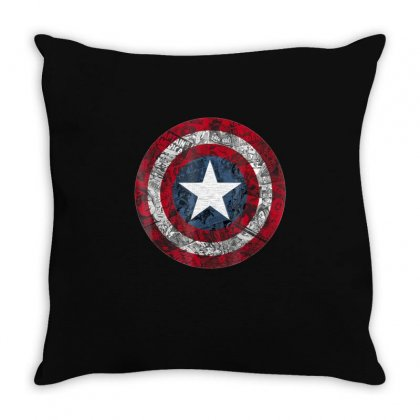 Captain America Avengers Shield Comic Graphic T Shirt Throw Pillow Designed By Victorcruz