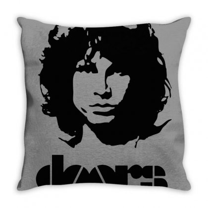 The Doors Throw Pillow Designed By Agus Loli