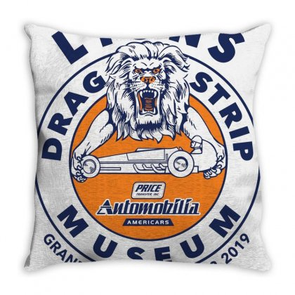 Lions Drag Throw Pillow Designed By Agus Loli