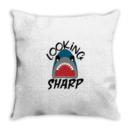 Sharp Throw Pillow Designed By Disgus_thing
