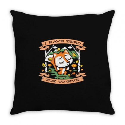 Zero Fox To Give Throw Pillow Designed By Z3ni