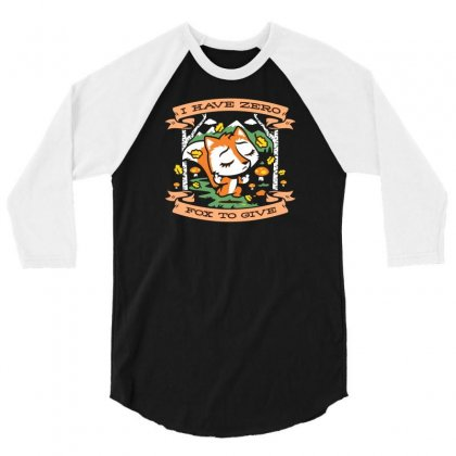 Zero Fox To Give 3/4 Sleeve Shirt Designed By Z3ni