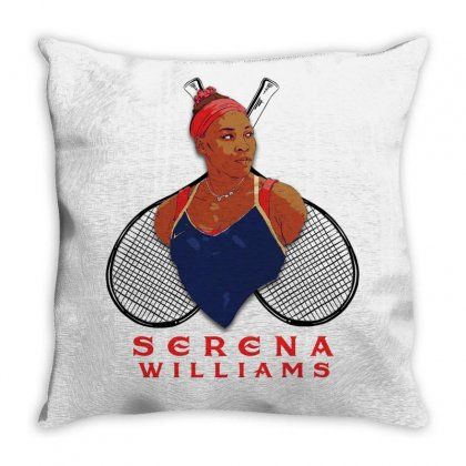 Serena Williams Throw Pillow Designed By Gurkan