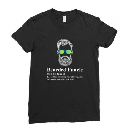 Beard Ladies Fitted T-shirt Designed By Disgus_thing