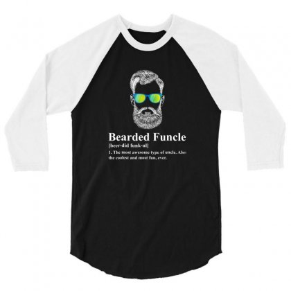 Beard 3/4 Sleeve Shirt Designed By Disgus_thing