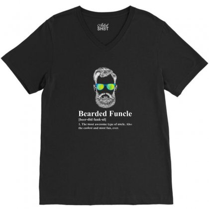 Beard V-neck Tee Designed By Disgus_thing