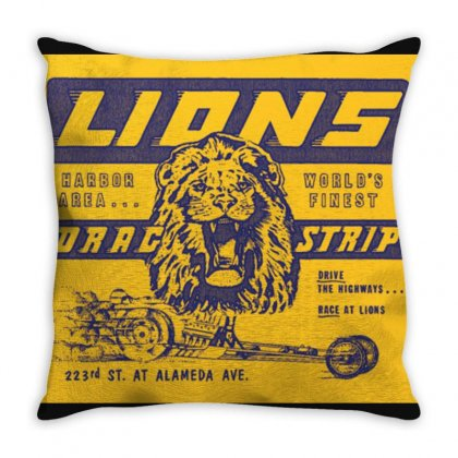 Lions Throw Pillow Designed By Titis