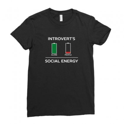 Energy Is Low Funny Introvert Humour Ladies Fitted T-shirt Designed By Z3ni
