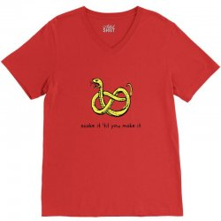 there make be snakes V-Neck Tee | Artistshot