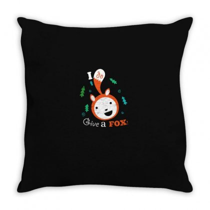 Fox Caring Throw Pillow Designed By Z3ni