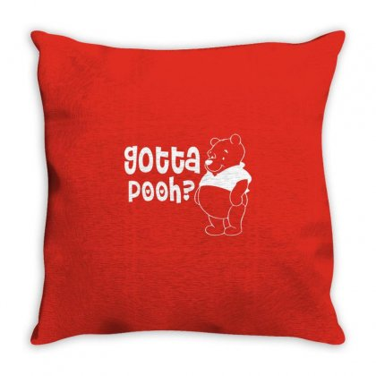 Gotta Pooh Throw Pillow Designed By Shadowart