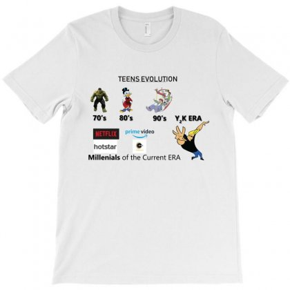 Teen Evolution T-shirt Designed By Sambit Panda