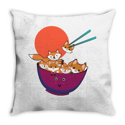 Save The Foxes For Light Throw Pillow Designed By Seda