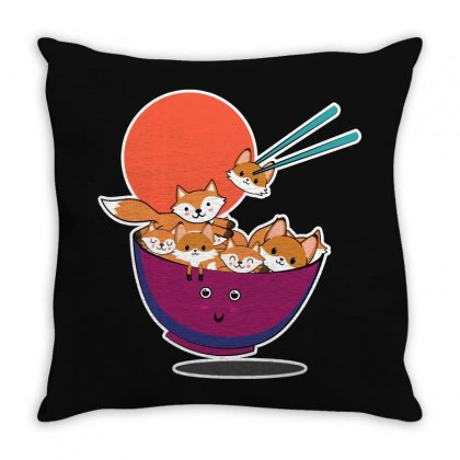 Save The Foxes For Dark Throw Pillow Designed By Seda