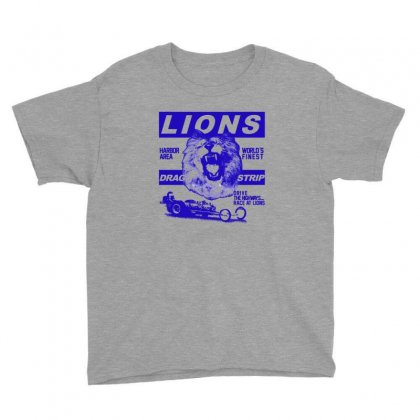 Lions Drag Strip Youth Tee Designed By Seda