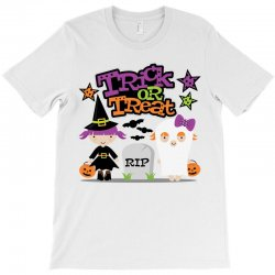 Halloween Trick Or Treat T-shirt Designed By Amber Petty