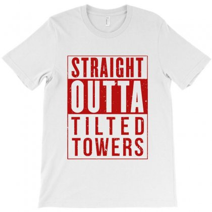 Straight Outta Tilted Towers T-shirt Designed By Picisan75