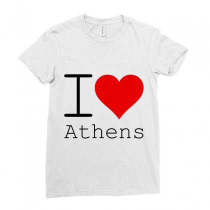 I Love Athens Ladies Fitted T-shirt Designed By Perfect Designers