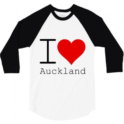 I Love Auckland 3/4 Sleeve Shirt Designed By Perfect Designers