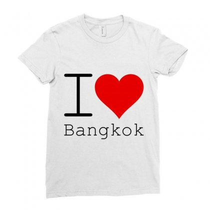 I Love Bangkok Ladies Fitted T-shirt Designed By Perfect Designers