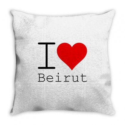 I Love Beirut Throw Pillow Designed By Perfect Designers