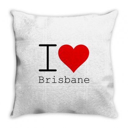 I Love Brisbane Throw Pillow Designed By Perfect Designers